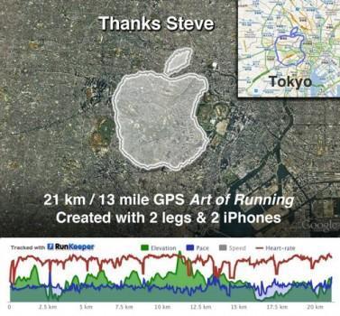 Un hommage sportif à Steve Jobs et Apple