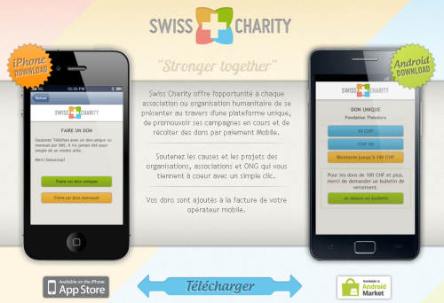 Swiss charity : Don via mobile en Suisse