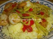 Crevettes sautées legumes