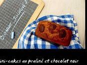 Minicakes praliné chocolat noir