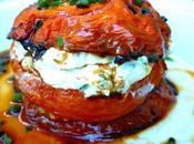 Millefeuille tomates confites facon cheesecake