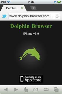 Dolphin Browser, le navigateur intelligent sur iPhone en version 1.1...