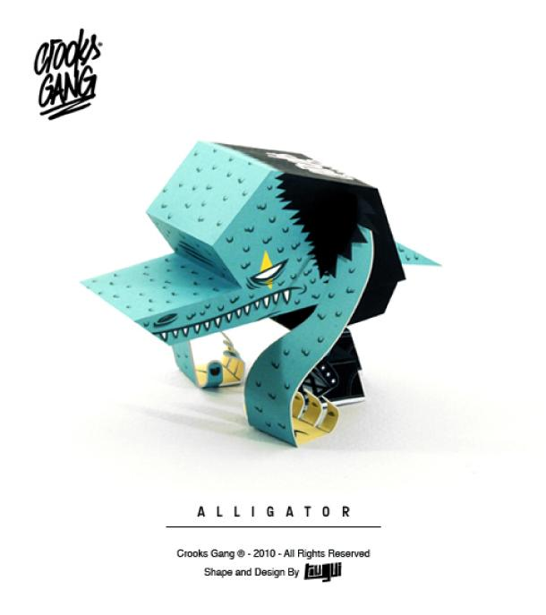 Paper toys Crooks Gang by Tougui (x 4)