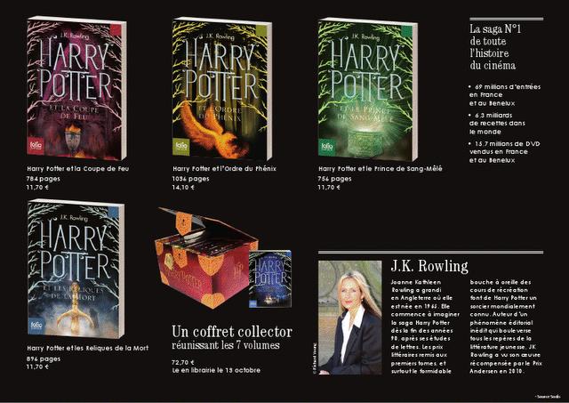 Harry Potter En Poche Nouvelles Couvertures Chez Folio