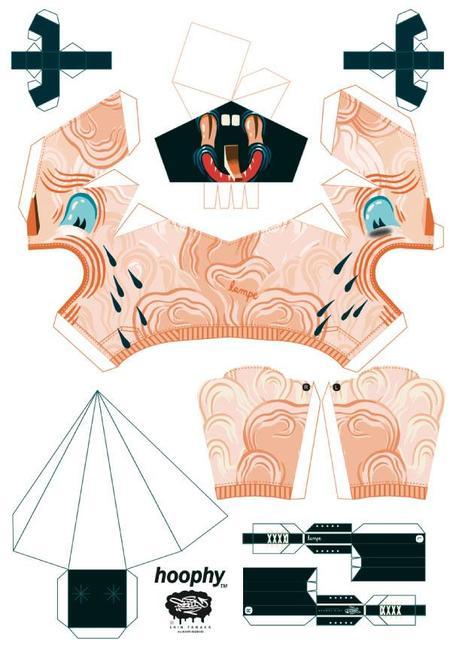 Papertoys hoophy de Shin Tanaka (x 13)