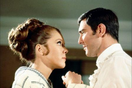 Diana Rigg et George Lazenby