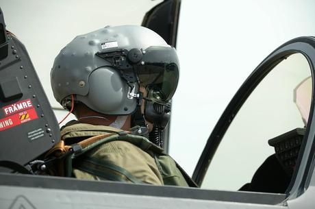 casque de vision tête haute HMD Cobra du consortium Saab/BAE/Denel