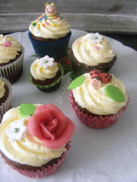 Cupcakes au chocolat noir, Crème légère de Christophe Felder