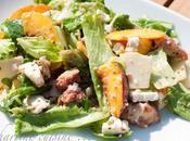 Salade sucrée-salée figue, pêche, parmesan, chèvre