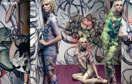 """Mode et art : la tendance """"peinture"""" 2008 illustrée par Prada"""