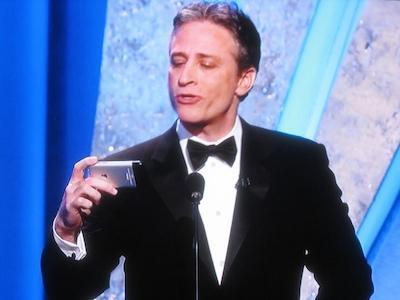 John Stewart iphone oscars