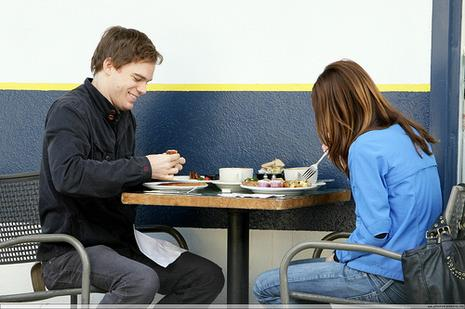 "Michael C. Hall et Jennifer Carpenter en train de ""bruncher"""