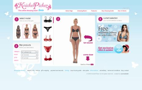 KnickerPicker, votre Dressing Room virtuel !