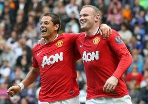 Javier-Chicharito-Hernandez-And-Wayne-Rooney