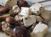 Poêlée champignons tofu lentilles saucisses