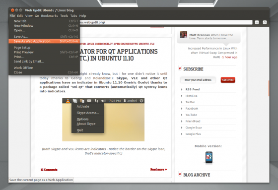 epiphany 3.2.0 560x383 Installer Epiphany et son mode application web sur Ubuntu 11.10 Oneiric