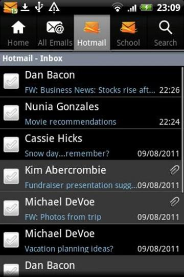 hotmail androidlg1 360x540 L'application Hotmail pour Android