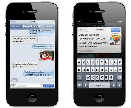 iphone 4gs twitter Pas diPhone 5 mais un iPhone 4S disponible le 14 octobre