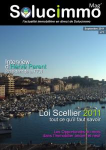 Le magazine pro de la semaine: Solucimmo, magazine immobilier