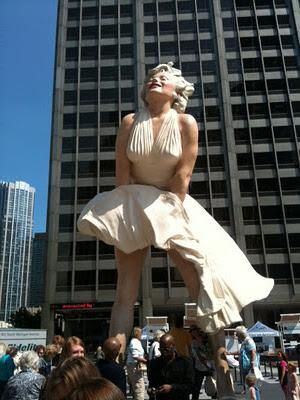 Marilyn Monroe sur le Magnificent Mile