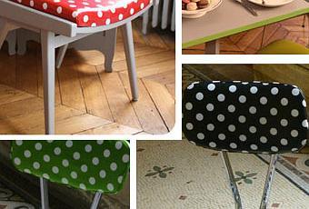 relooker vos chaises avec de la toile cir e d couvrir. Black Bedroom Furniture Sets. Home Design Ideas