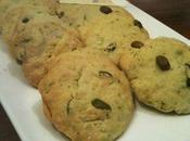 Cookies salés pistaches, basilic, ail, citron parmesan idéal pour l'apéro