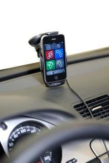 Un support qui transforme votre iPhone en kit main libre...