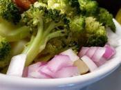 Salade brocolis, poulet, pomme terre wasabi