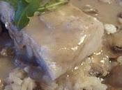 Cabillaud champignons sauce onctueuse