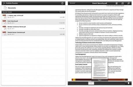Adobe Reader, une application iPhone / iPad pour lire les fichiers PDF