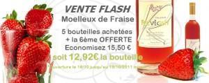 """Vente flash """"Semaine du goût"""" : c'est au tour du vin de fraise !"""
