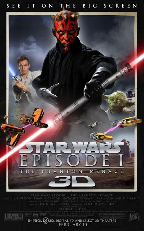 Affiche US Star Wars - Episode I : La menace fantôme