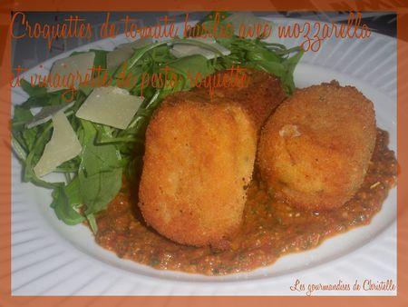 croquette_tmates_basilic_mazzarella_pesto_roquette_vinaigrette