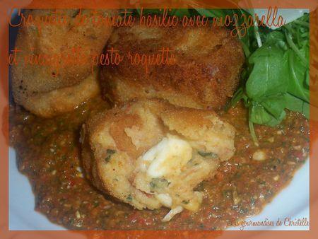 vinaigrette_pesto_roquette_croquettes_tomates_basilic_et_mozzarella