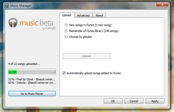 upload music [Invitations] Google Music, stocker ses musiques dans le Cloud