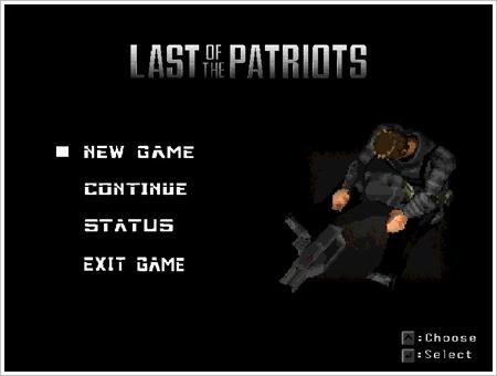 Last of the Patriots, un jeu de Paul Davis