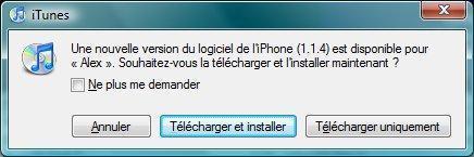 appel firmware 1.1.4 iphone itunes