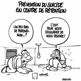 Suicide centre de rétention