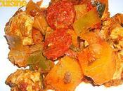 Poulet patates douces chorizo pesto rosso...un régal