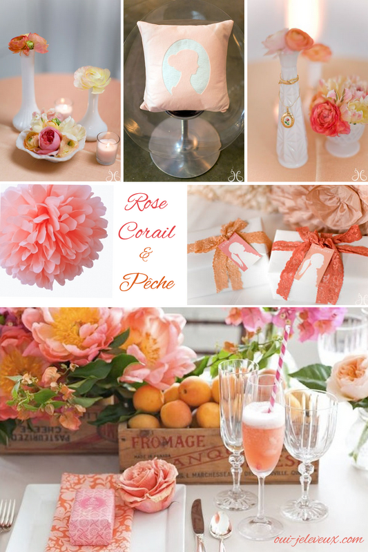 Decoration Mariage Rose Corail