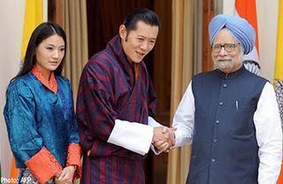 Le Roi du Bhoutan et sa Reine en voyage officiel