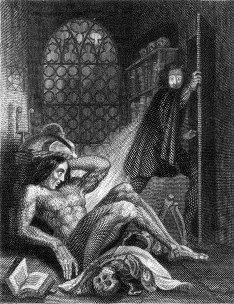 461px Frontispiece to Frankenstein 1831 Gothique Romantique