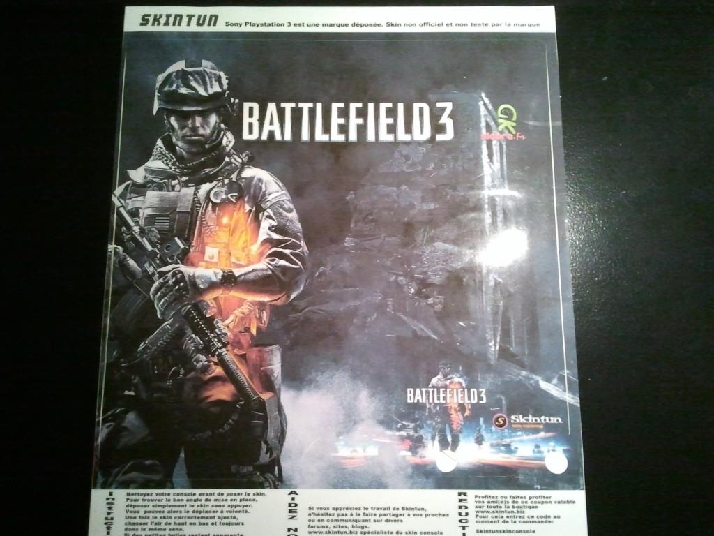 Skin Battlefield 3 pour PlayStation 3 Slim