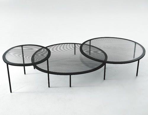 Tables Taffy, l'effet moiré par Luca Nichetto