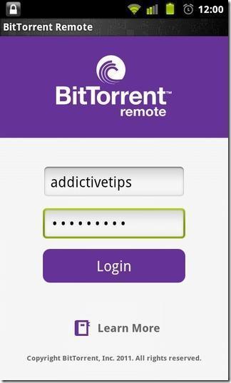 BitTorrent Remote BitTorrent sinvite sous Android