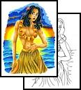 Hula Girl Tattoo Designs