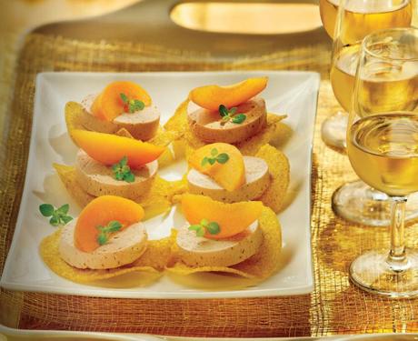 Toast au foie gras et abricot