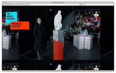 L'identité visuelle du centre d'art Triangle France, par le Studio Plastac