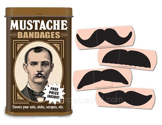 Des pansements moustaches