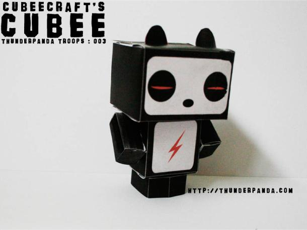 Papertoys Thunderpanda Troops (x 5)